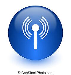wifi computer icon on white background