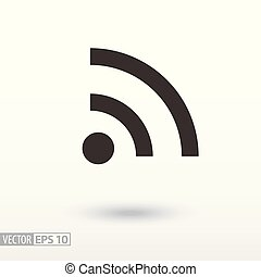 Wifi flat Icon. Sign Internet connection
