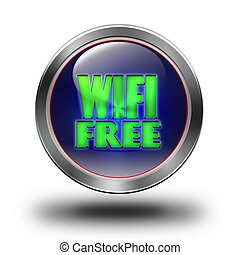 WIFI Free glossy icon