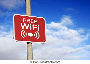 wifi, frei, zeichen