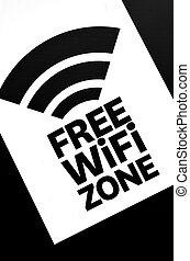 wifi, frei, zone