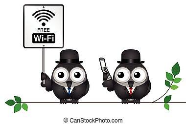 wifi, fri, tegn