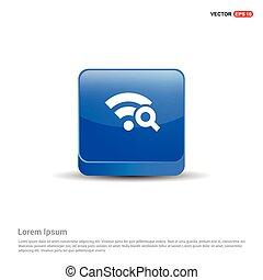 Wifi icon - 3d Blue Button