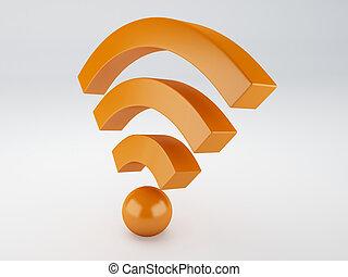wifi icon. 3d illustration