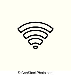 WiFi icon, black on white background, vector illustration.
