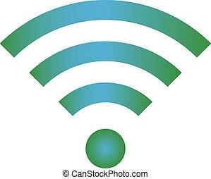 Wifi icon blue green color