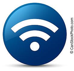 Wifi icon blue round button