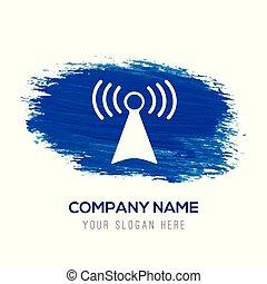 Wifi Icon - Blue watercolor background