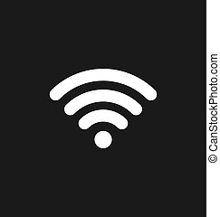 Wifi icon connection. Wifi signal / coverage symbol vector illus