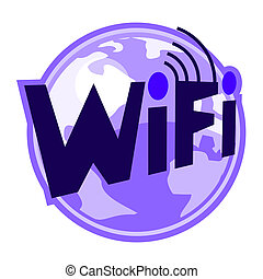 Creative design of wifi icon
