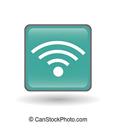 wifi icon design, vector illustration