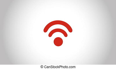 wifi icon design, Video Animation HD1080