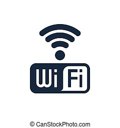 Wifi icon design with text, isolated vector illustrations