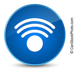 Wifi icon elegant blue round button