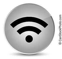 Wifi icon elegant white round button