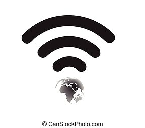 Wifi World Symbol