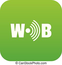 Wifi icon green vector