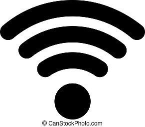 Wifi icon in flat style with shadow white background