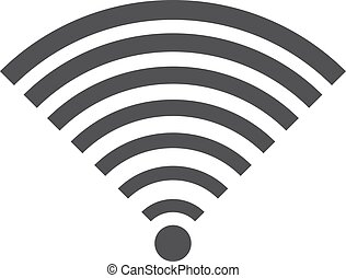 Wifi icon in flat style, gray color white background