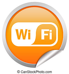 Wifi icon isolated over white