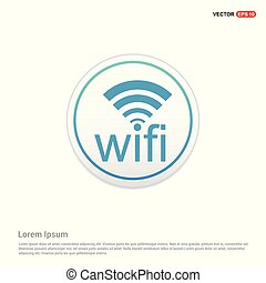 Wifi icon logo - white circle button