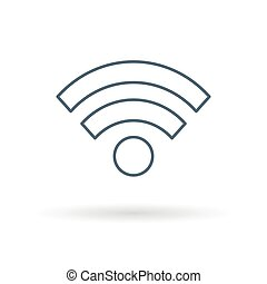 Wifi icon on white background