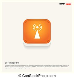 Wifi icon Orange Abstract Web Button