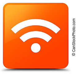 Wifi icon orange square button