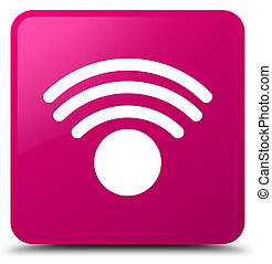 Wifi icon pink square button