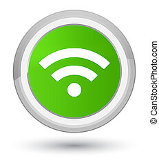 Wifi icon prime soft green round button