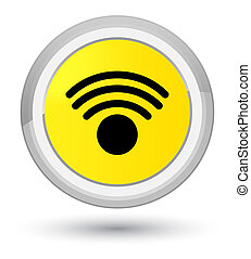 Wifi icon prime yellow round button