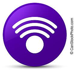 Wifi icon purple round button