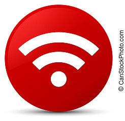 Wifi icon red round button