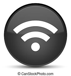Wifi icon special black round button