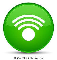 Wifi icon special green round button