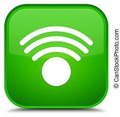 Wifi icon special green square button
