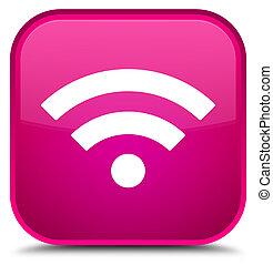 Wifi icon special pink square button