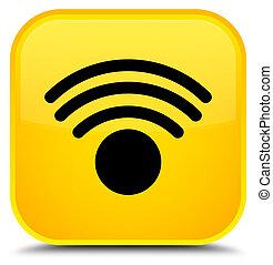 Wifi icon special yellow square button