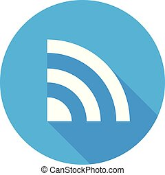 Wifi icon vector Flat network sign/symbol. For mobile user interface