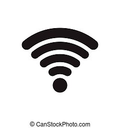 Wifi icon vector illustration isolated on white background