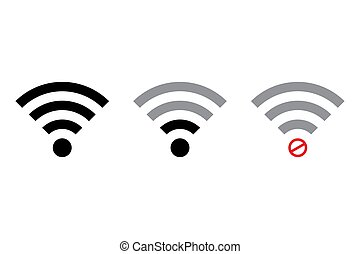 WiFi icon vector isolated on white background