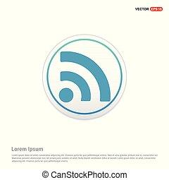 wifi icon - white circle button