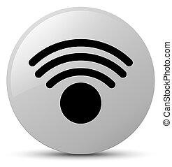 Wifi icon white round button