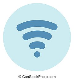 Wifi Icon Wireless Internet Connection On Blue Background
