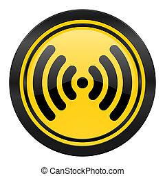 wifi icon, yellow logo, wireless network sign