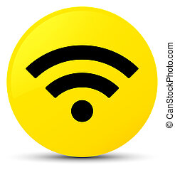 Wifi icon yellow round button