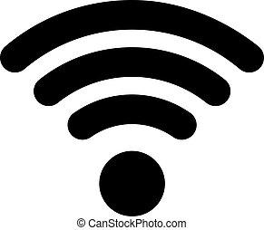 wifi, icono, plano, estilo