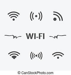 Wifi icons set isolated on white background