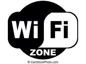 wifi internet free - wifi free internet zone on a white...