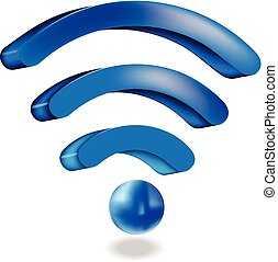 Wifi network sign logo